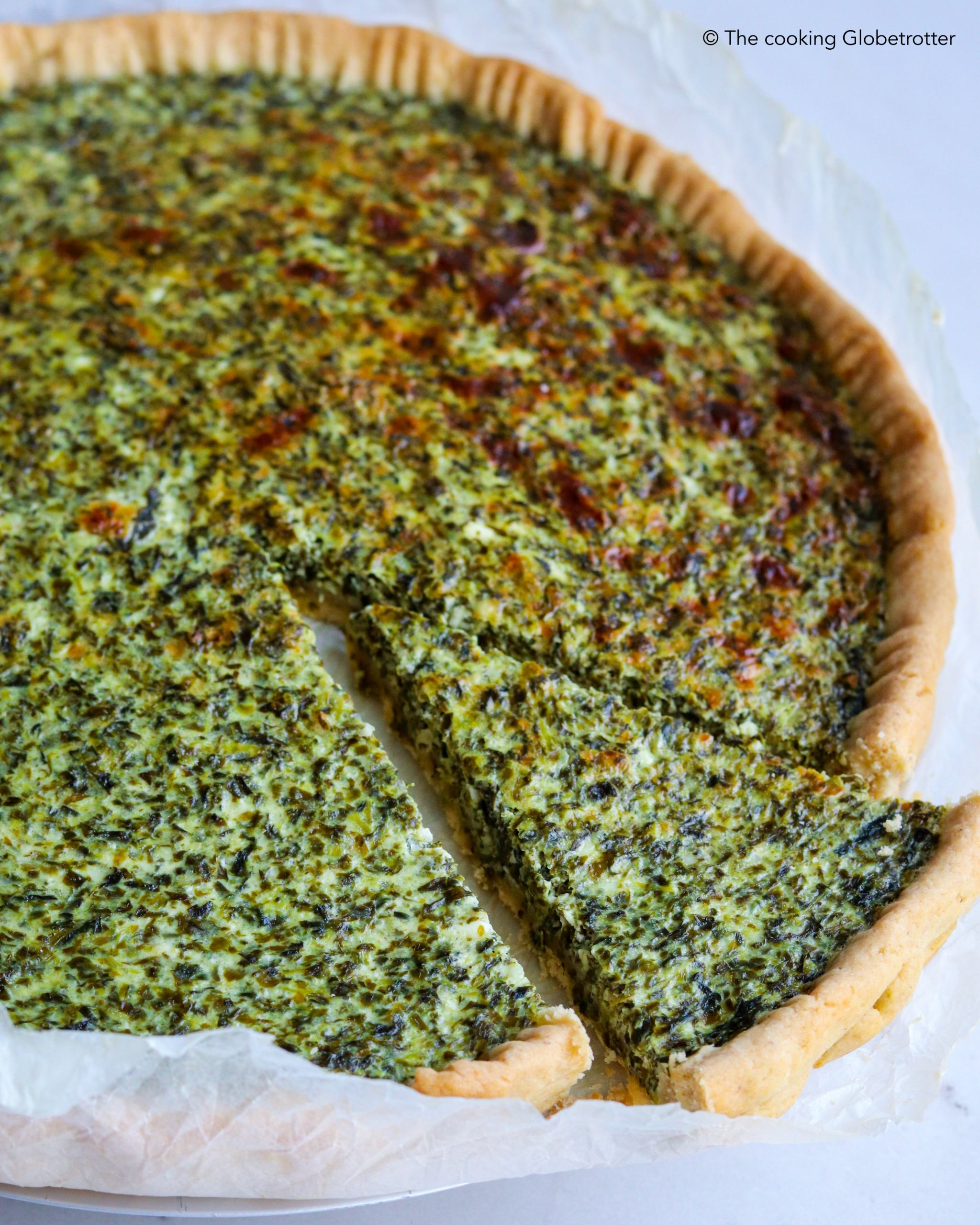 How to bake a quick and healthy quiche ricotta spinach Italian pie