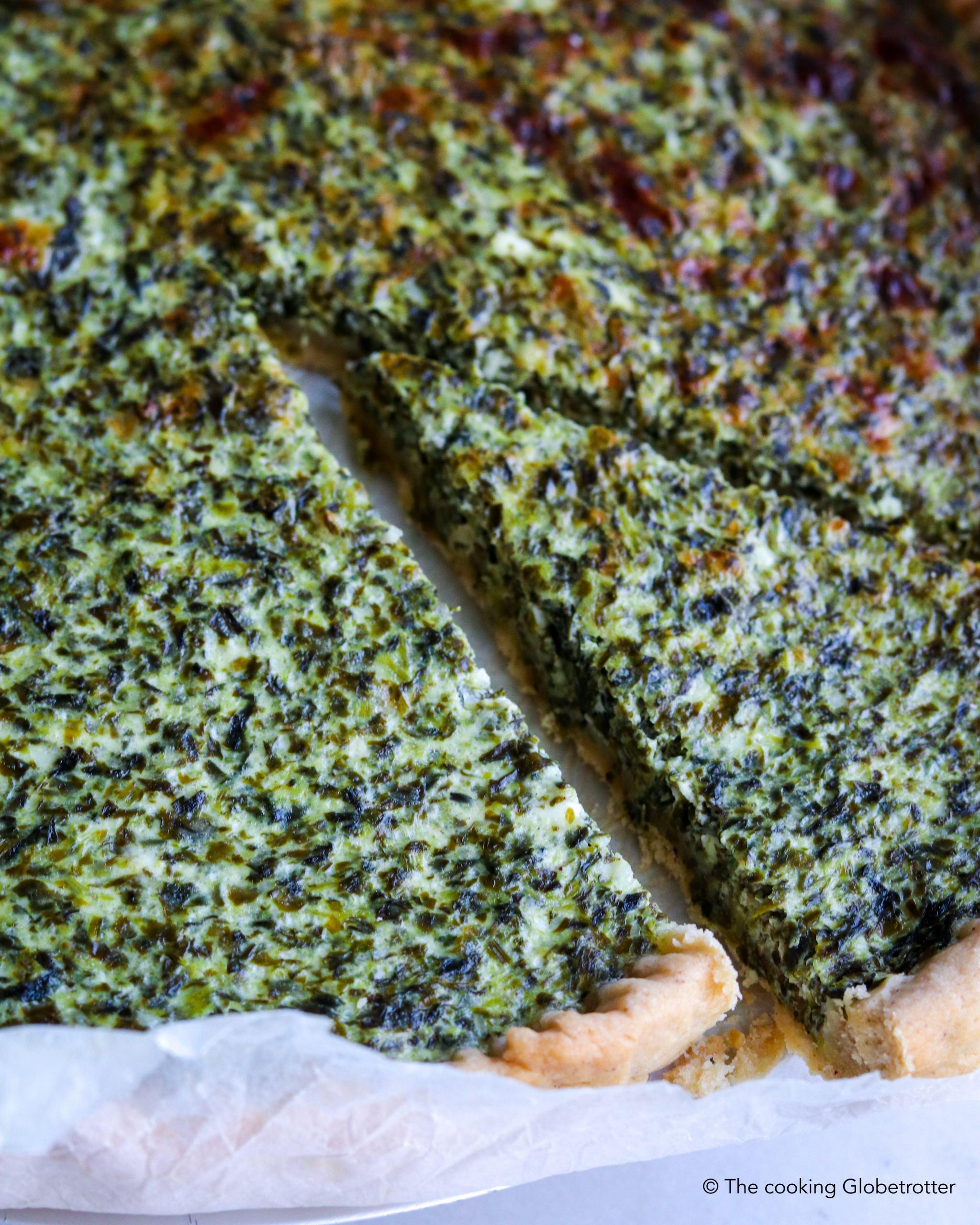 Recipe for homemade quiche spinach ricotta healthy easy pie