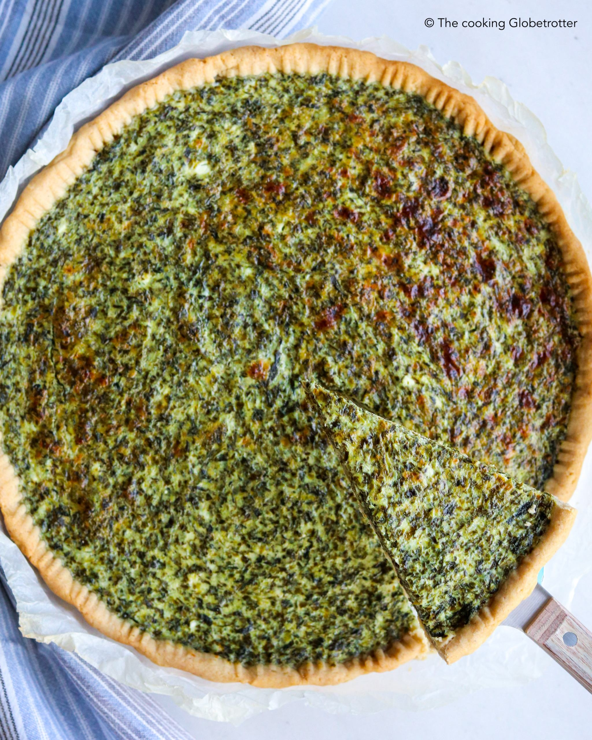 Recipe for healthy spinach pie