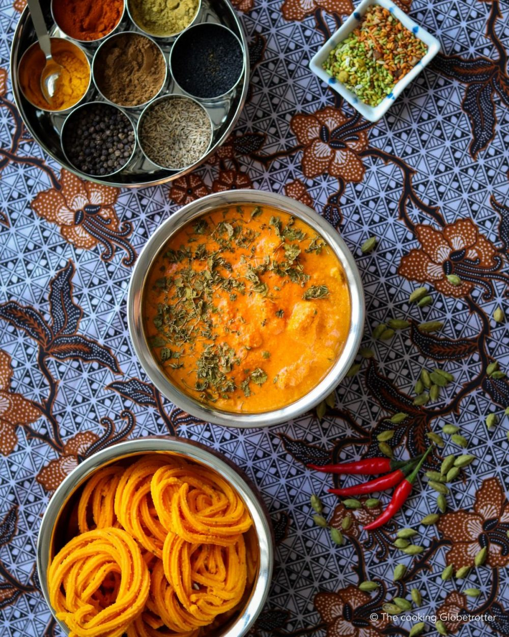 Main butter chicken Indian curry creamy family dish naan rice favourite Indian India