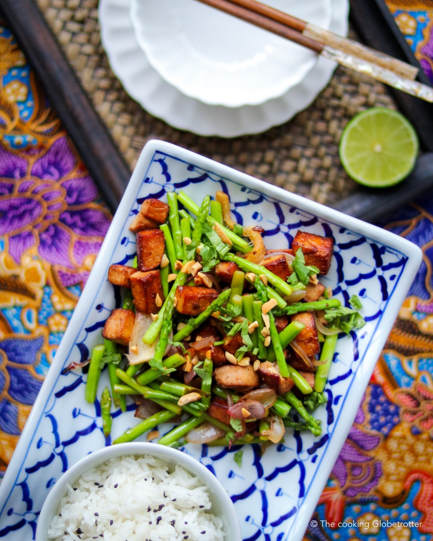 Thai asparagus and Tofu stir-fry
