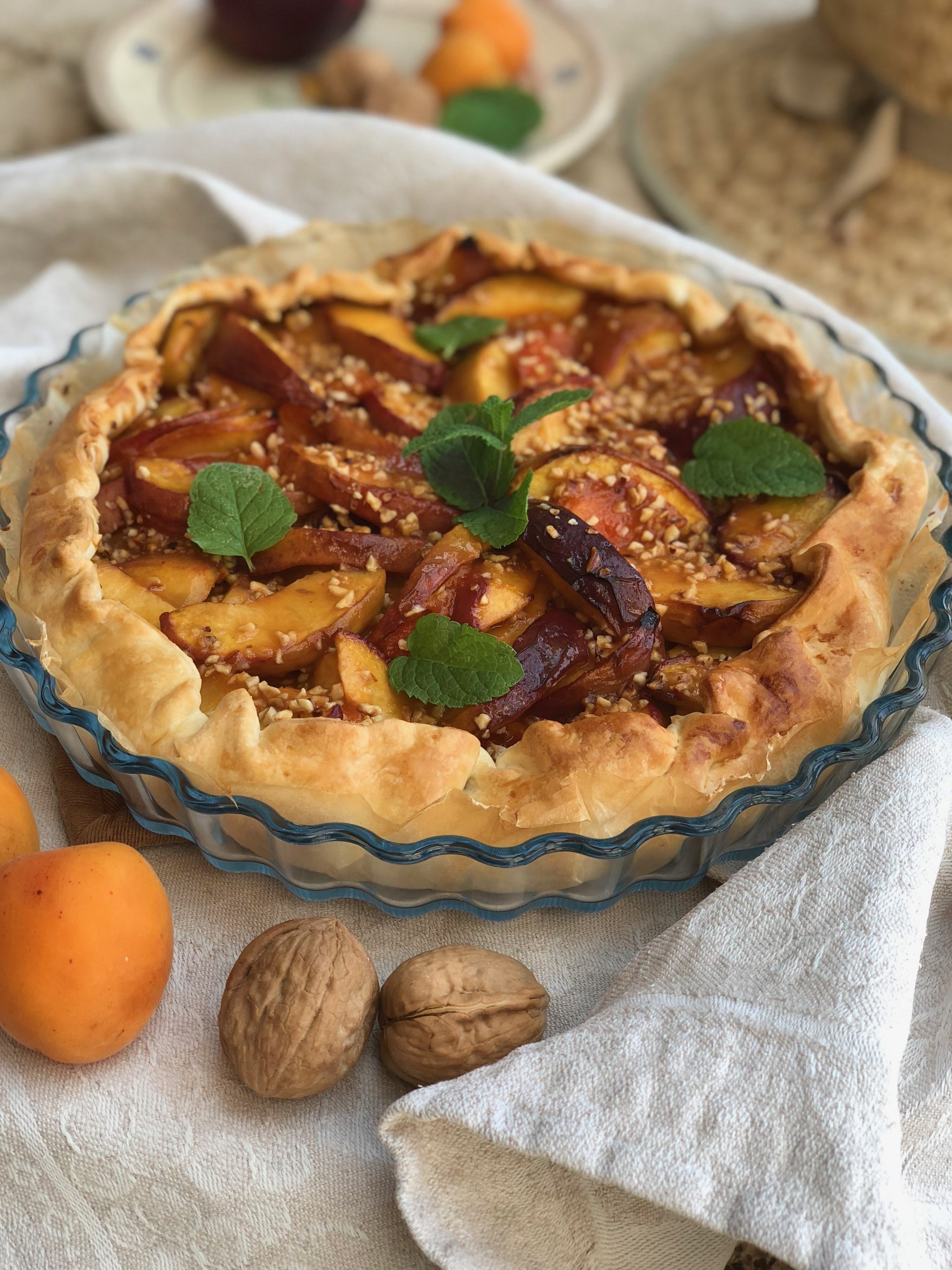 Quick peach pie