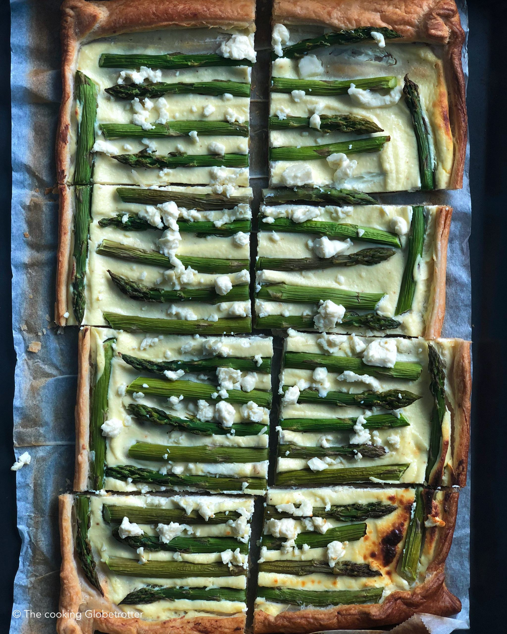 Asparagus Quiche with Ricotta quick and easy meal for Easter brunch and hungry family and friends or guests