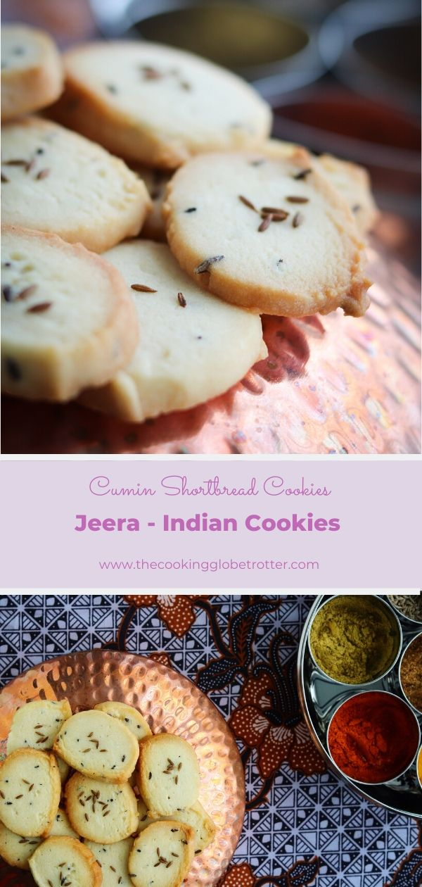 Pin Jeera Indian Cumin Shortbread cookies