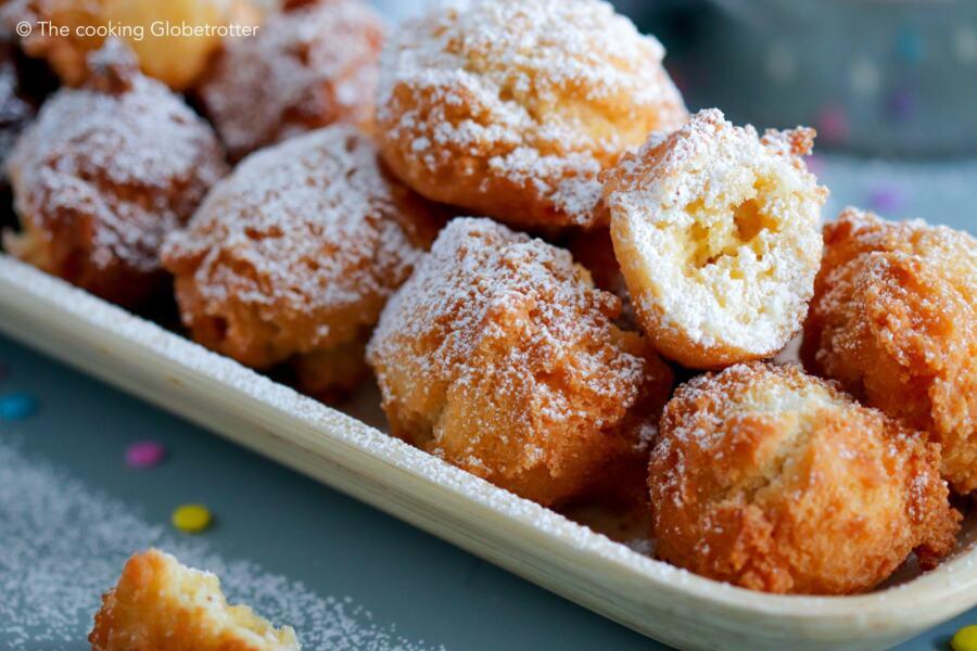 Main Castagnole, Frappe, Strufoli fritters carnival fried dough sweets