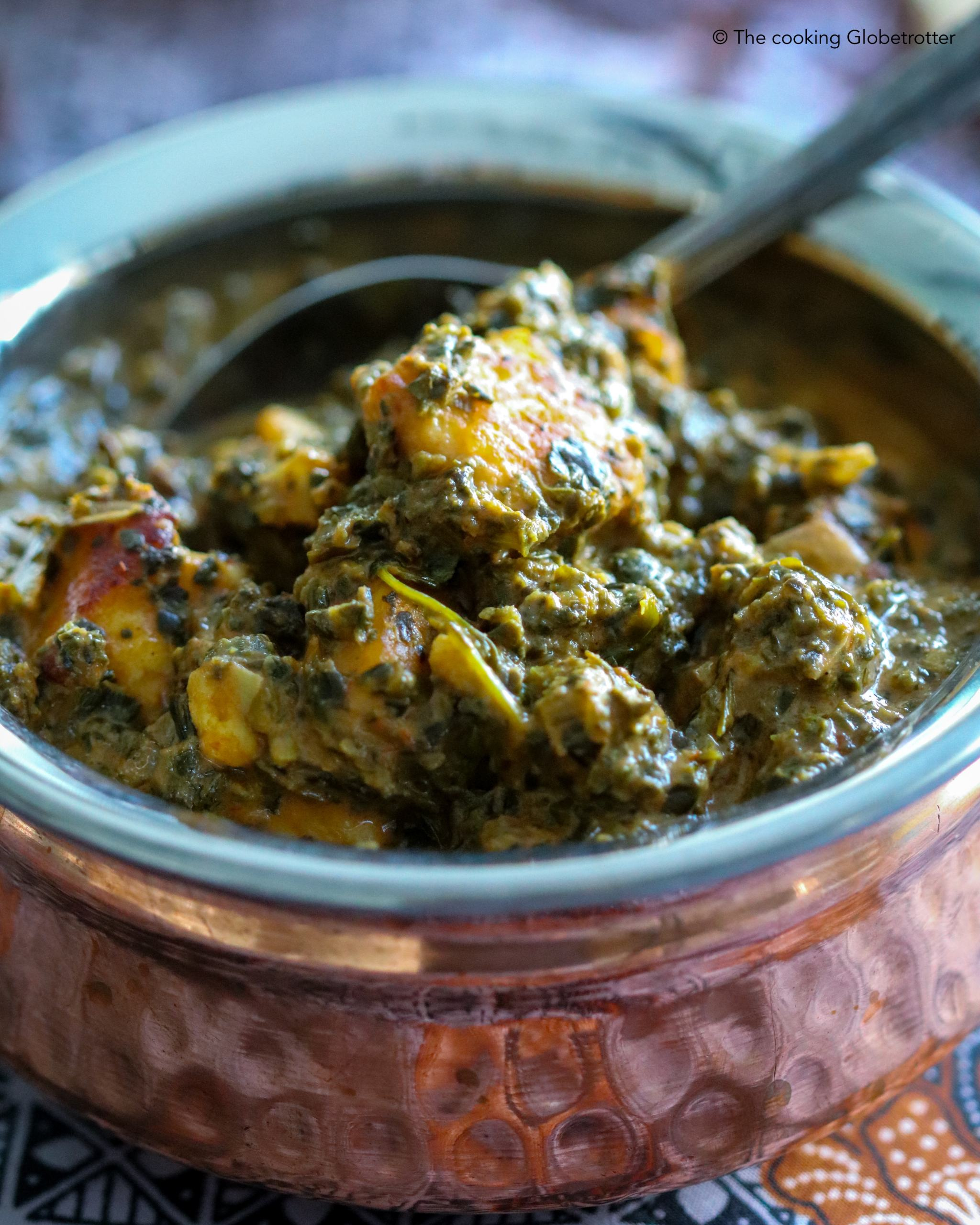 Saag Paneer – vegetarian spinach curry