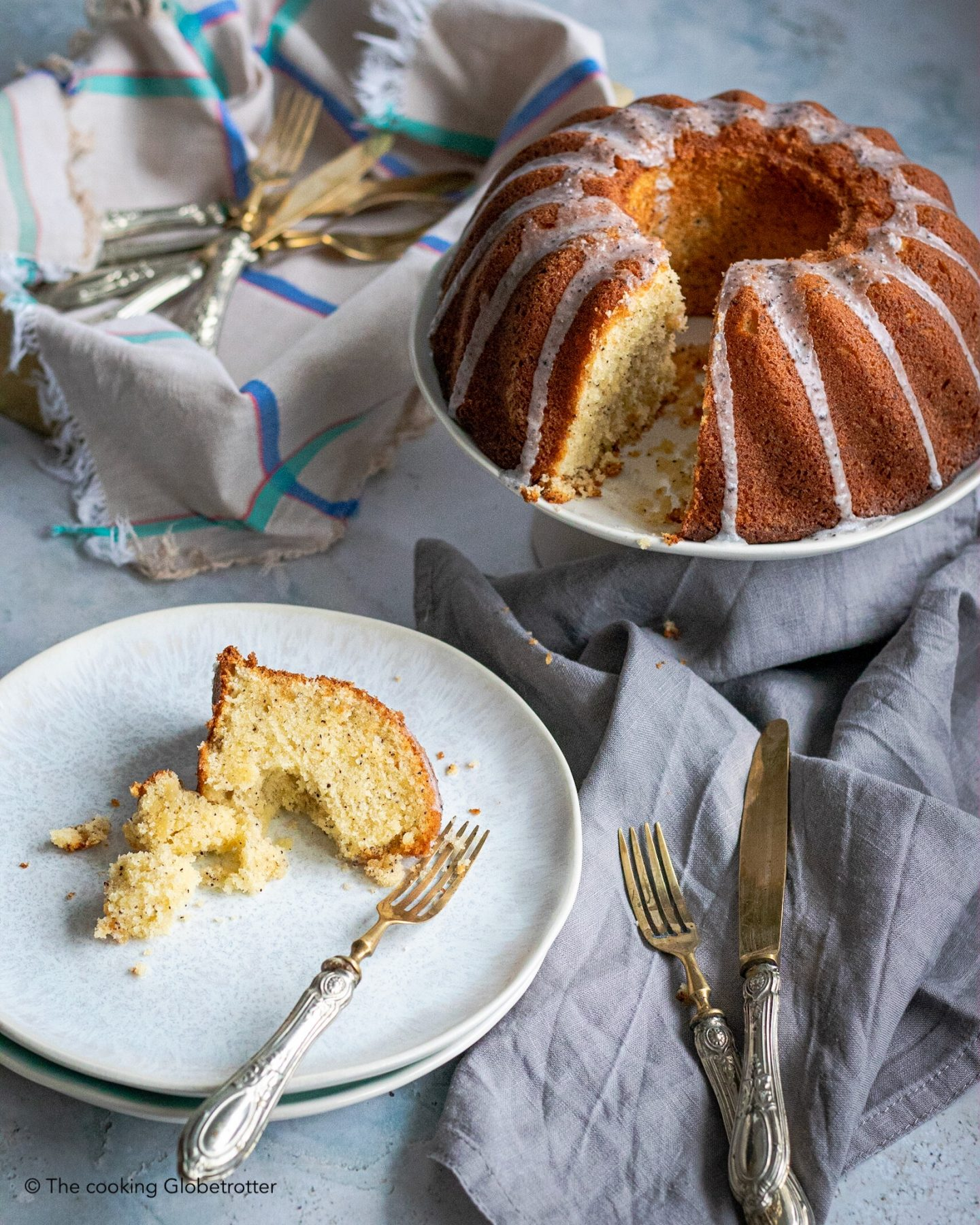 Index featured lemon poppy seeds cake lemon glaze juicy moist Guglhupf zoner photo studio
