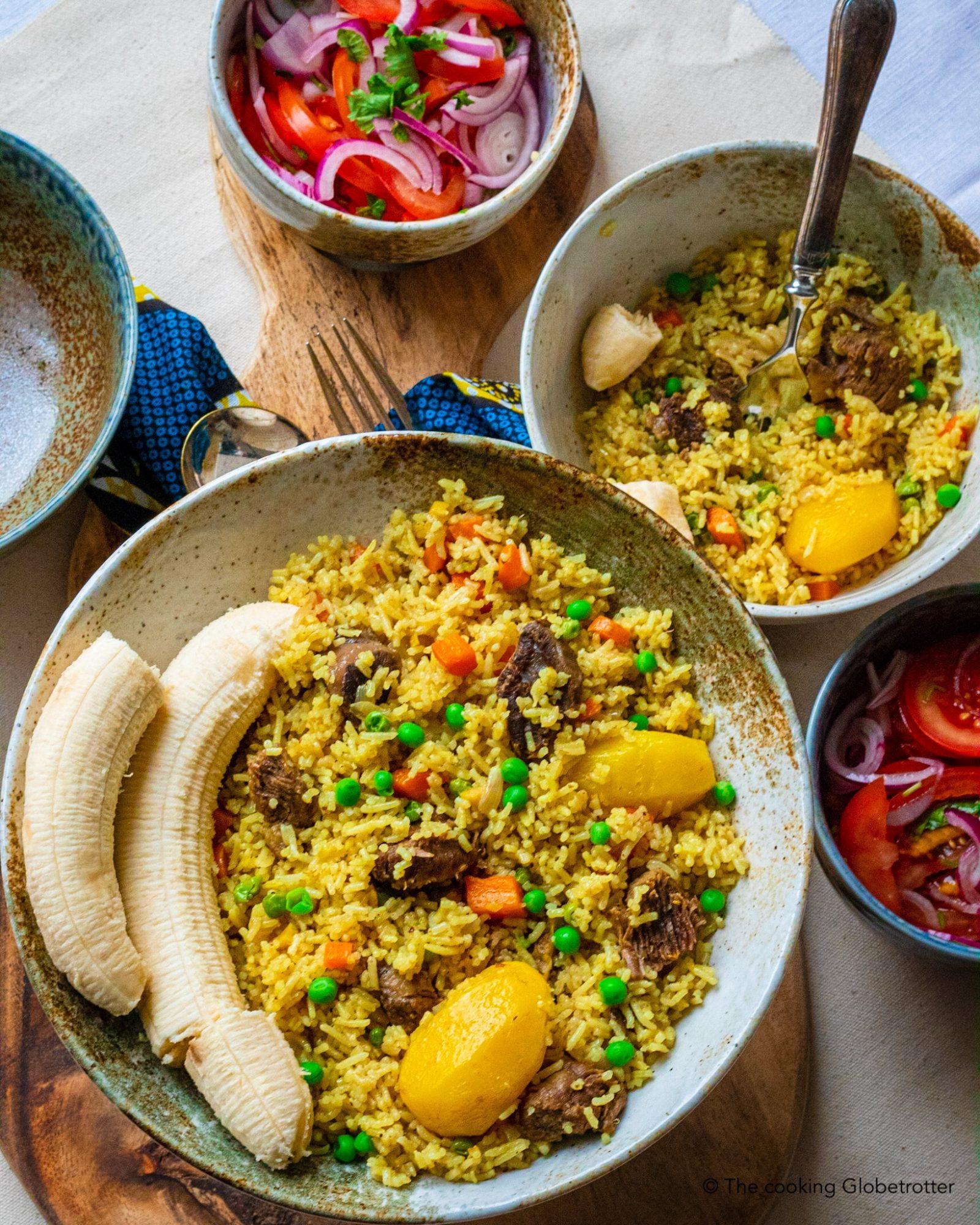 Cooked kulinarische Reise Tansania Rindfleisch Pilau Tansania Gewürzreis Vera nyama