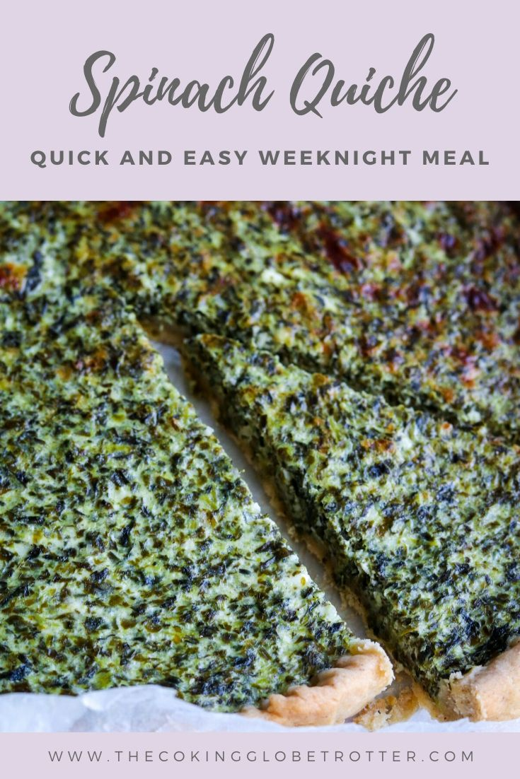 Pin spinach ricotta quiche quick easy weeknight meal family pie healthy recipe