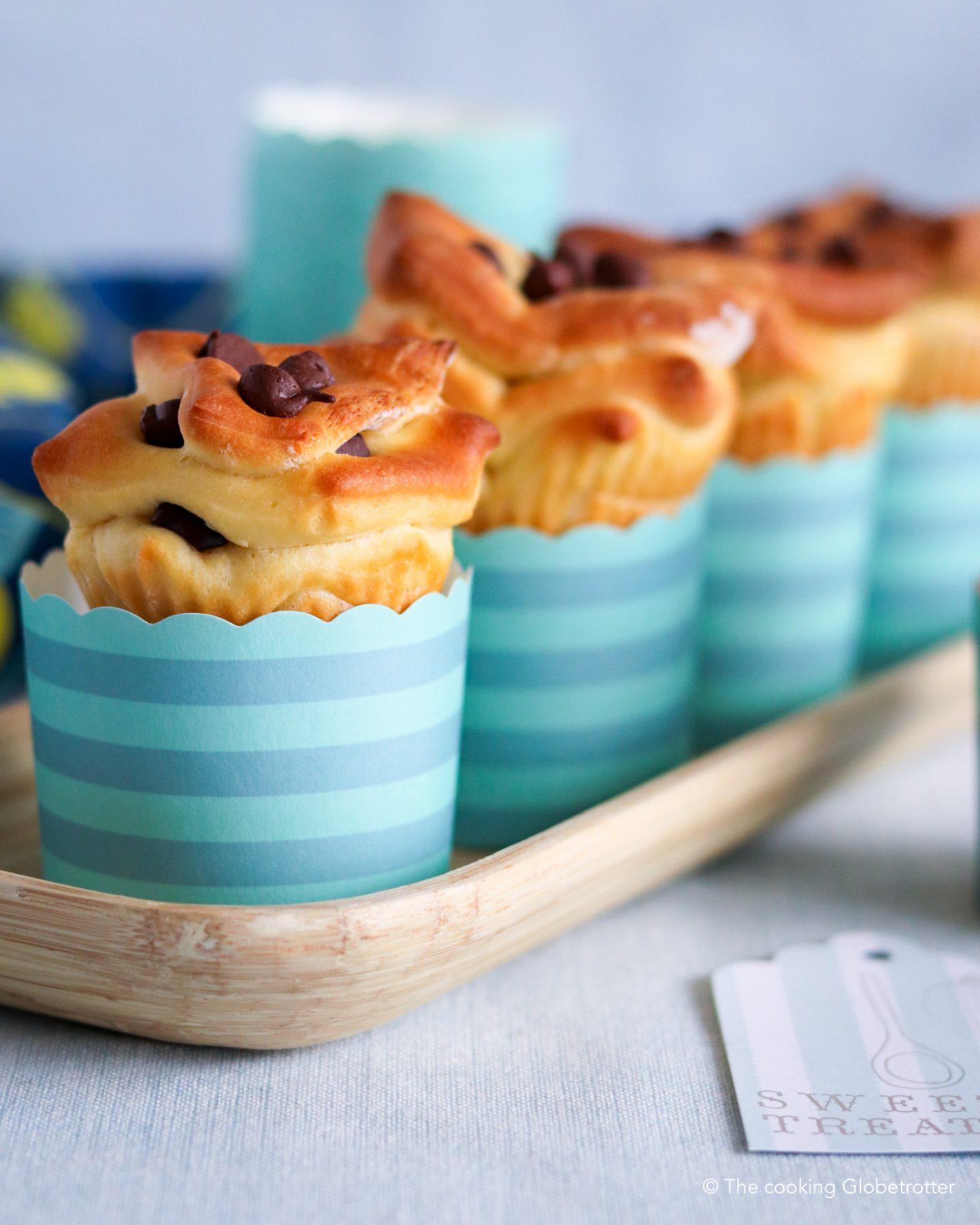 Index Hefeteig Rezepte für kleine Raupen Nimmersatt Kochbuch Zupfbrot Zucker arme Muffins mit Schokolade, einfache Hefe Teig Muffins für Kinder und di ganze Familie, backen