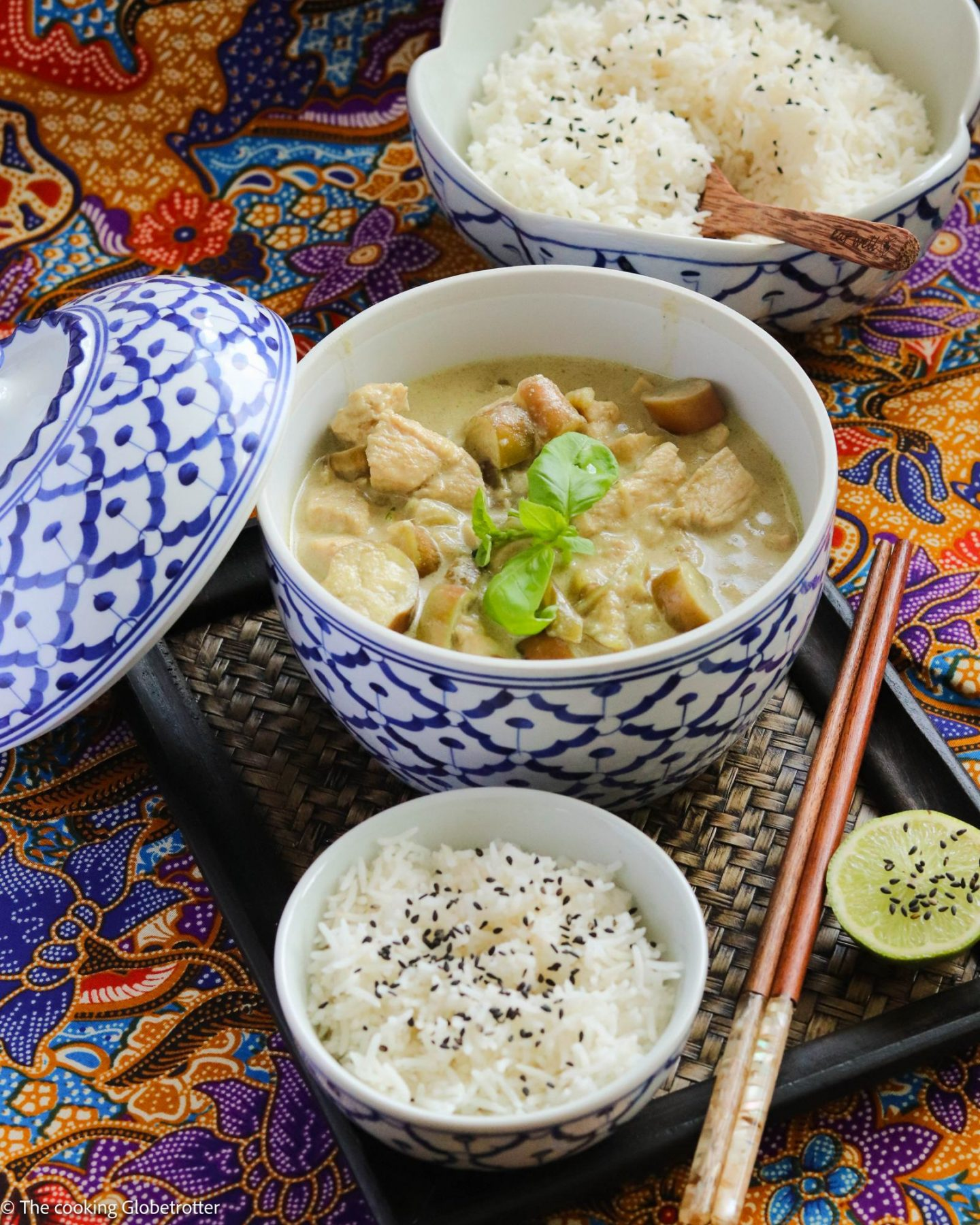 Thai green curry with chicken recipe from The cooking Globetrotter