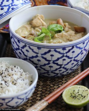 Thai Chicken Green Curry, a delicious classic dish from Thailand, made with green curry paste, coconut milk, chicken and vegetables