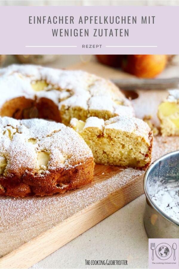 Bild eines Apfelkuchen aus dem Koch und Back Blog The cooking Globetrotter. Rezepte aus der ganzen Welt mit saisonalen und regionalen Zutaten
