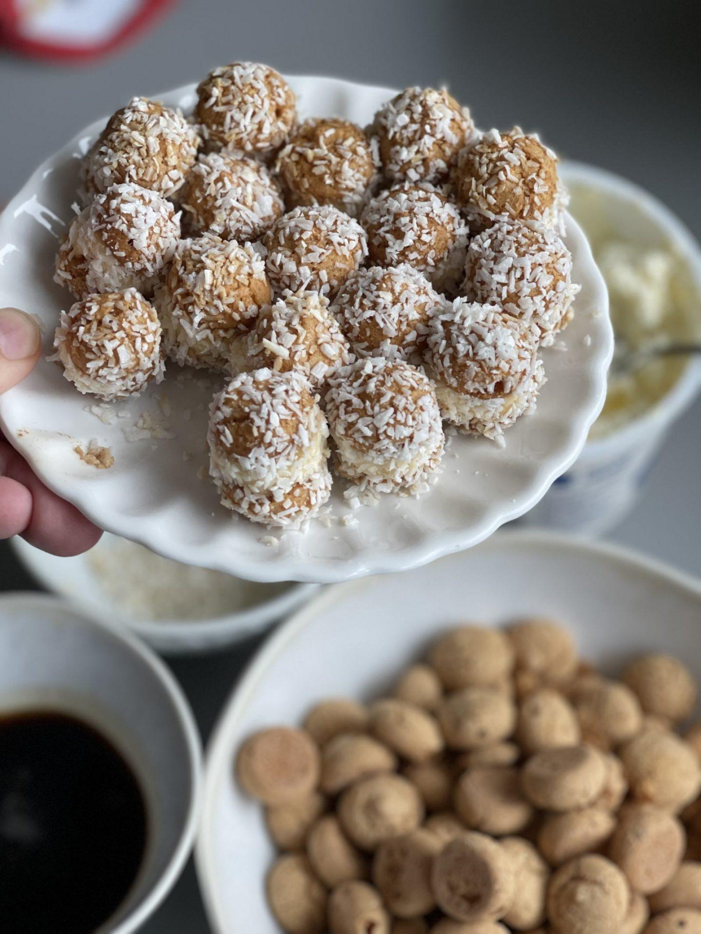 Amaretti Küsschen, ein einfaches Rezept für Muttertag aus Liveausderküche