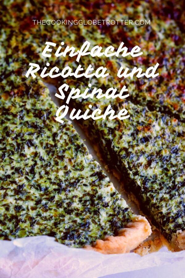 Einfache Ricotta und Spinat Quiche, gesund, schnell und unkompliziert in der Zubereitung und daher perfekt auch unter der Woche