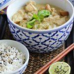 Grünes Thai Curry mit Huhn und Aubergine: ein einfaches und schnelles Rezept für das beste Curry aus Thailand mit selbstgemachter Curry Paste oder gekaufter.
